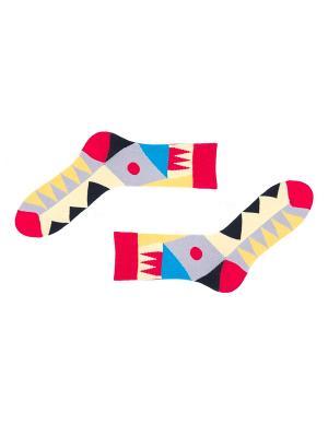 Носки Sammy Icon. Цвет: черный, бежевый, красный, желтый