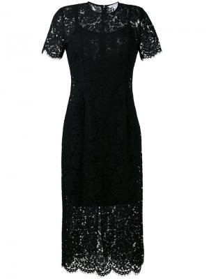 Кружевное платье Carly Diane Von Furstenberg. Цвет: чёрный