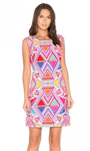 Украшенное платье kaz Deby Debo. Цвет: розовый