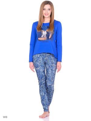 Комплект домашней одежды ( кофта, брюки) HomeLike. Цвет: синий
