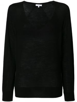 Пуловер с V-образной горловиной Iro. Цвет: чёрный