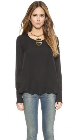 Блуза Sommer с длинными рукавами и открытой спиной Rory Beca. Цвет: оникс