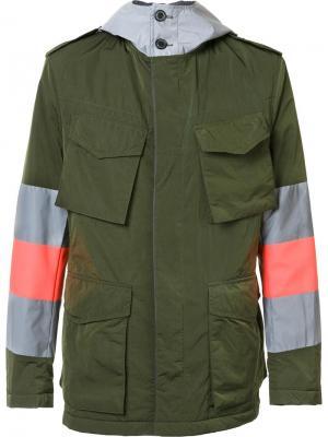Куртка карго Wooster + Lardini. Цвет: зелёный