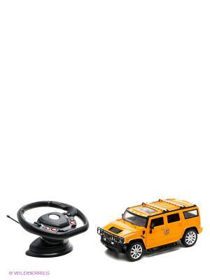 Машинка р/у масштаб 1:12 со световыми эффектами и зарядным устройством Tian Du. Цвет: желтый