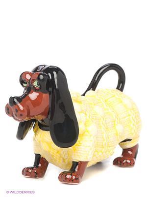 Фигурка Такса в свитере Blue Sky. Цвет: желтый, коричневый, черный