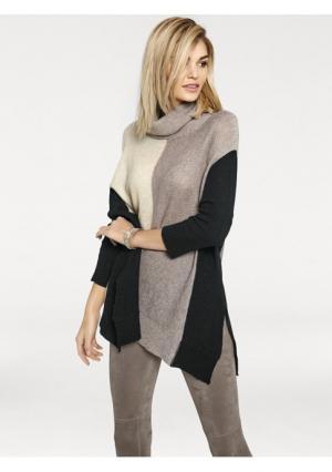 Пуловер Rick Cardona. Цвет: серо-коричневый/песочный