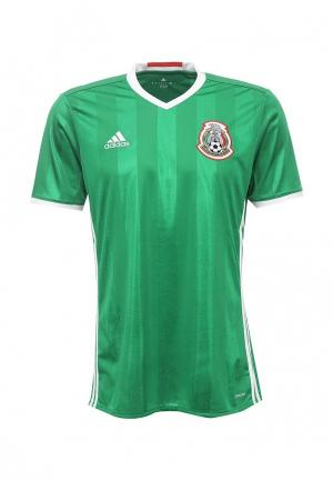 Футболка спортивная adidas Performance. Цвет: зеленый