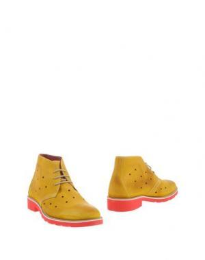 Полусапоги и высокие ботинки GABARDINE. Цвет: желтый