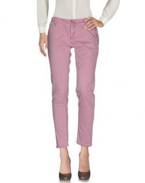 Повседневные брюки NO LAB. Цвет: светло-фиолетовый