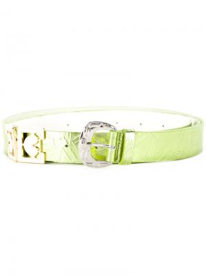 Textured buckle belt Mikio Sakabe. Цвет: зелёный