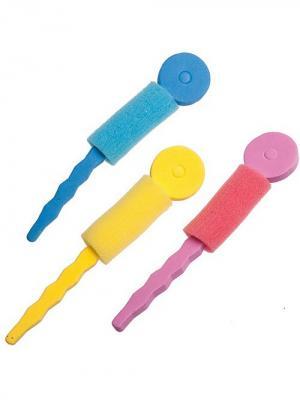 Набор бигудей для волос City Flash. Цвет: желтый, голубой, розовый