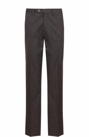 Хлопковые брюки прямого кроя Germano. Цвет: коричневый