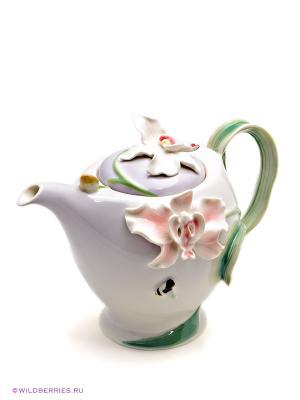 Заварочный чайник Орхидея Pavone. Цвет: сиреневый