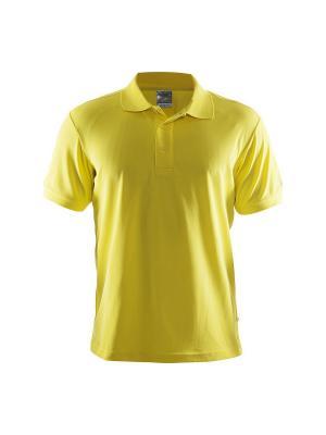 Футболка-поло Craft. Цвет: желтый