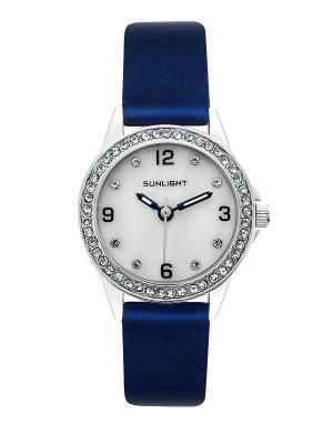 Часы наручные Sunlight. Цвет: синий, серебристый