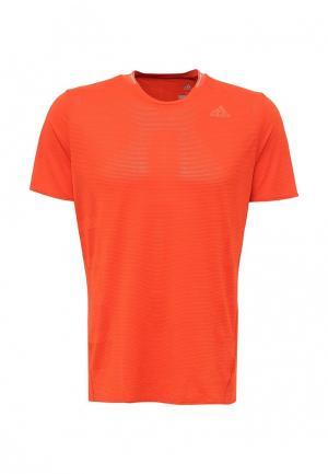 Футболка спортивная adidas. Цвет: оранжевый