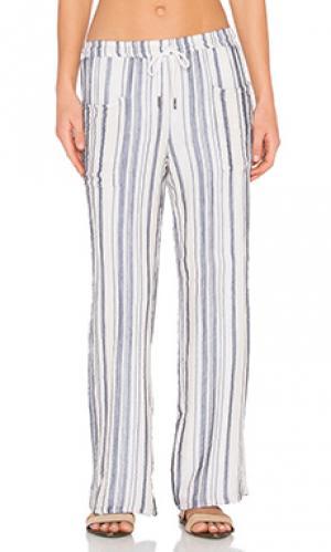 Полосатые брюки Stateside. Цвет: синий