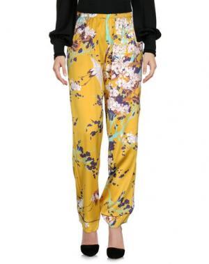 Повседневные брюки LAURA URBINATI. Цвет: охра