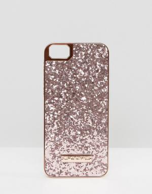 Skinnydip Золотисто-розовый чехол для iPhone 5/SE с блестками. Цвет: мульти