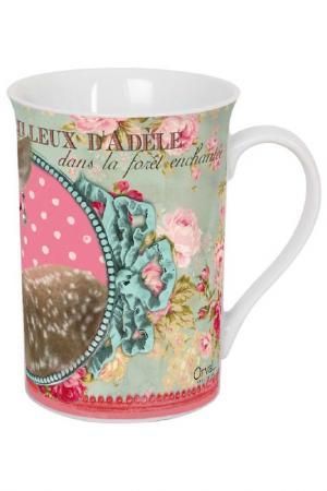 Чайная кружка Мир Адели ORVAL. Цвет: белый, черный, розовый