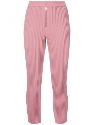 Плиссированные брюки Irene. Цвет: розовый и фиолетовый