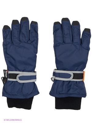 Перчатки NELS. Цвет: темно-синий