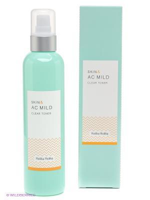Skin and AC Mild, Очищающий тонер Holika. Цвет: бирюзовый