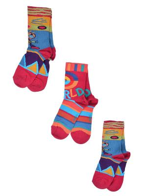 Носки Детские,комплект 3шт Malerba. Цвет: бордовый