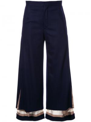 Многослойные брюки Undercover. Цвет: синий