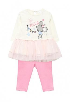 Комплект брюки и платье Modis. Цвет: разноцветный