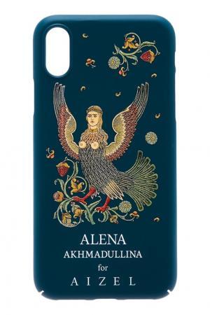 Зеленый чехол для iPhone X by  Alena Akhmadullina Russian Essentials. Цвет: зеленый