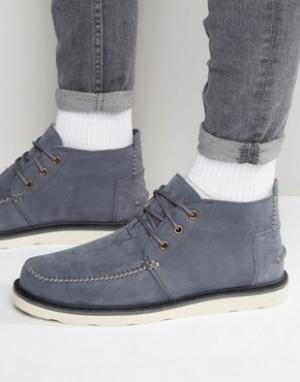 Toms Ботинки чукка из нубука. Цвет: серый
