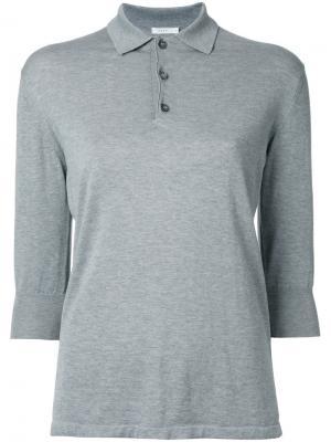 Классическая футболка-поло 6397. Цвет: серый
