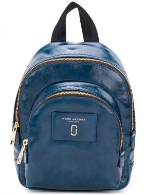Мини-рюкзак с двумя карманами на молнии Marc Jacobs. Цвет: синий