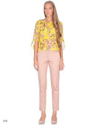 Блузка FLEURETTA. Цвет: светло-желтый