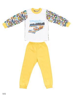 Пижама Машинки Лео. Цвет: желтый