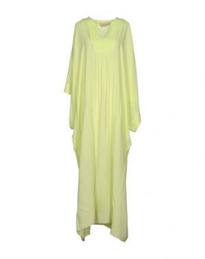 Длинное платье ADRIANA DEGREAS. Цвет: кислотно-зеленый