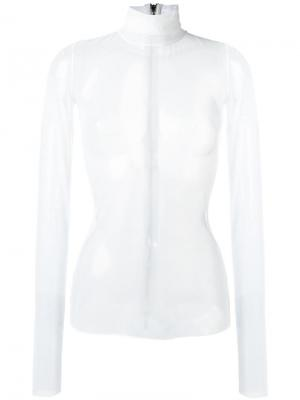 Прозрачная блузка Maticevski. Цвет: белый