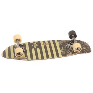 Скейт мини круизер  Bird Cruiser Marina 7.5 x 27 (68.6 см) Dusters. Цвет: бежевый,черный