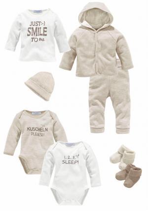 Комплект для малышей, 8 частей KLITZEKLEIN. Цвет: бежевый меланжевый