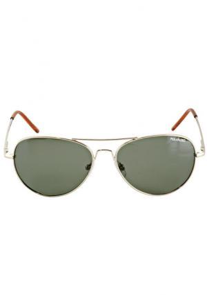 Солнцезащитные очки Heine. Цвет: золотистый, серебристый