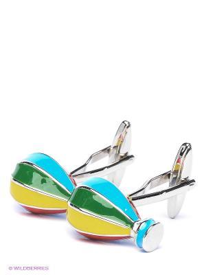 Запонки Воздушные шары мультиколор Mitya Veselkov. Цвет: серебристый