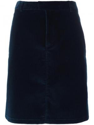 Прямая короткая юбка A.P.C.. Цвет: синий