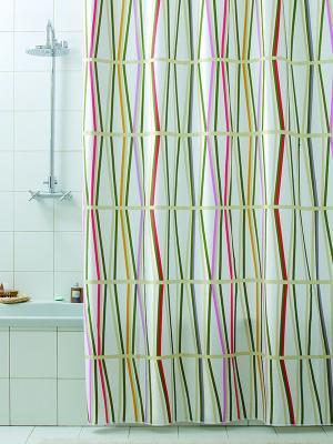 Штора д/ванн 180х200 Bambu (шт.) Bacchetta. Цвет: зеленый, белый, желтый