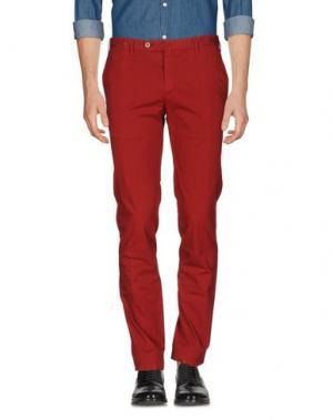 Повседневные брюки G.T.A. MANIFATTURA PANTALONI. Цвет: кирпично-красный