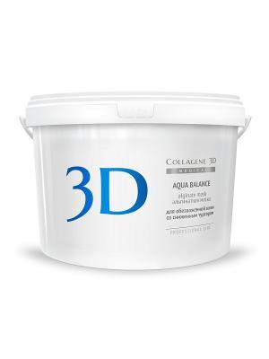 Альгинатная маска Aqua Balance 1200 г Medical Collagene 3D. Цвет: белый, голубой
