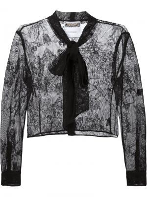 Кружевной пиджак Moschino. Цвет: чёрный