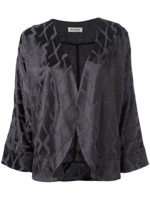 Пиджак с укороченными рукавами Masscob. Цвет: серый