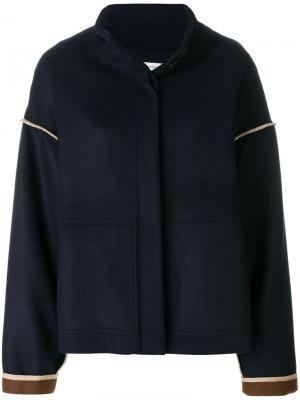 Куртка на пуговицах Stefano Mortari. Цвет: синий