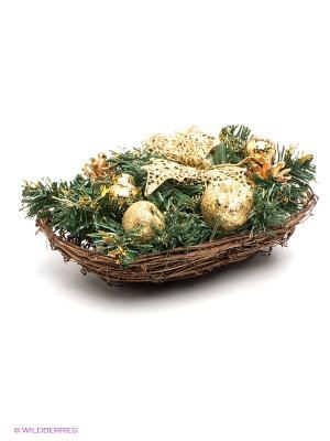 Хвойное украшение Mister Christmas. Цвет: зеленый, золотистый